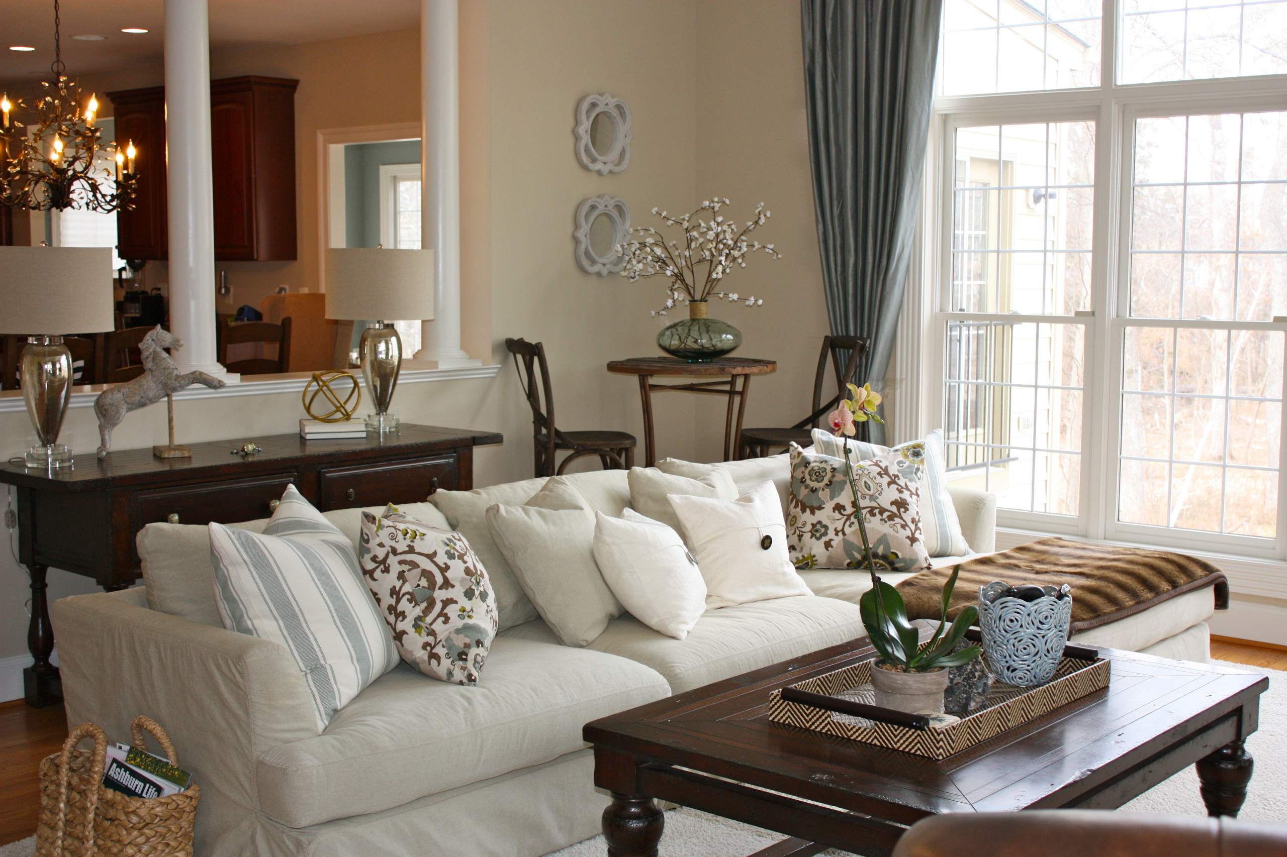 Adding Color and Texture to Liven Up the Family Room