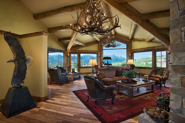 Aerie at Spring Creek Ranch traditional family room