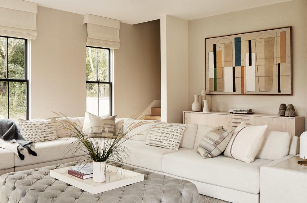 Amagansett Modern Barn Style Beach Style Family Room New York By Kevin O Sullivan Associates