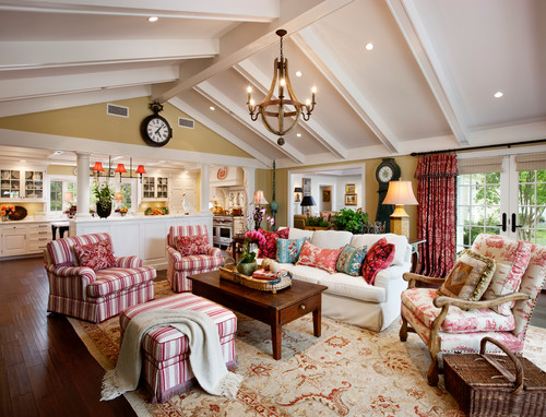 Traditional Family Room By Santa Barbara General Contractors Giffin U0026 Crane  General Contractors, Inc. 6. Stripes And Toile. High Pitch Ceiling, Lots Of  ...