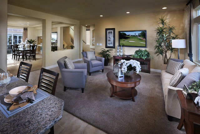 American West Brentwood Plan 3990 - Contemporary - Family Room - Las ...