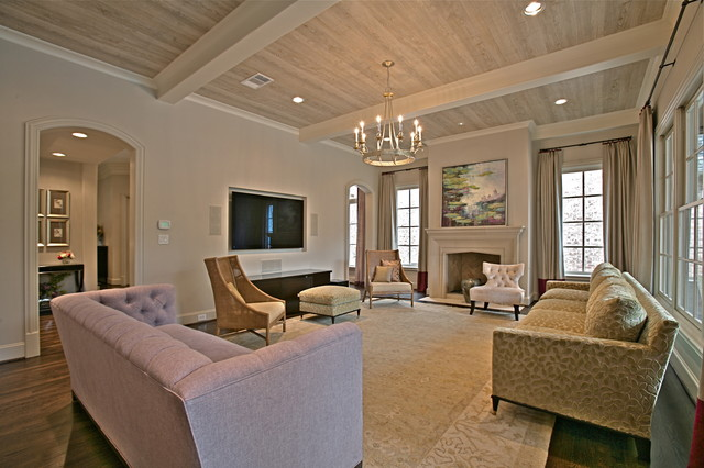 amherst living spaces modern family room dallas by