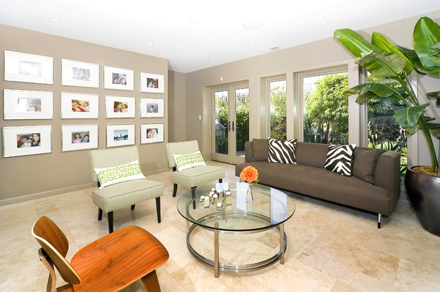 Amazing Contemporary Family Room by Amoroso Design