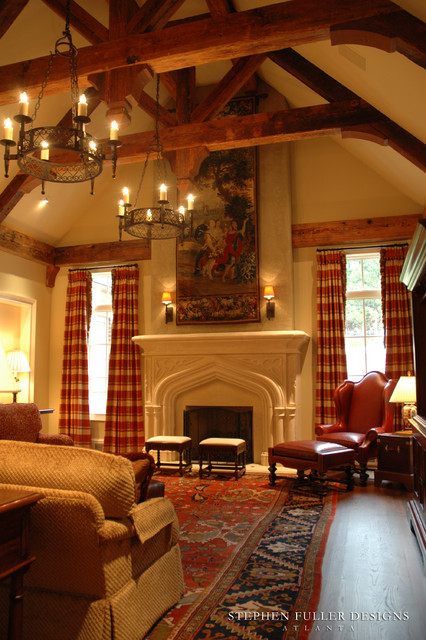 An English Country Family Room Traditional Family Room