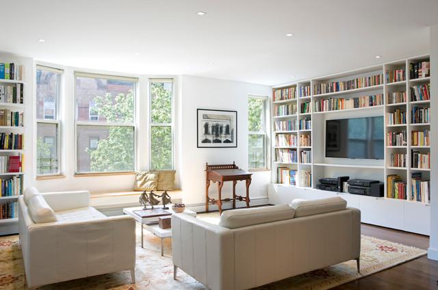 Manhattan Ave. Duplex contemporary-family-room