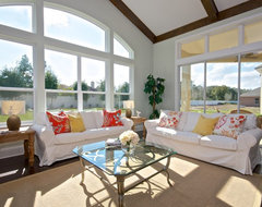 Andy Reynolds Homes Hunters Creek Model traditional family room