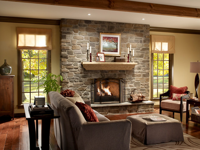 Wonderful Stone Fireplace with Windows 640 x 482 · 117 kB · jpeg