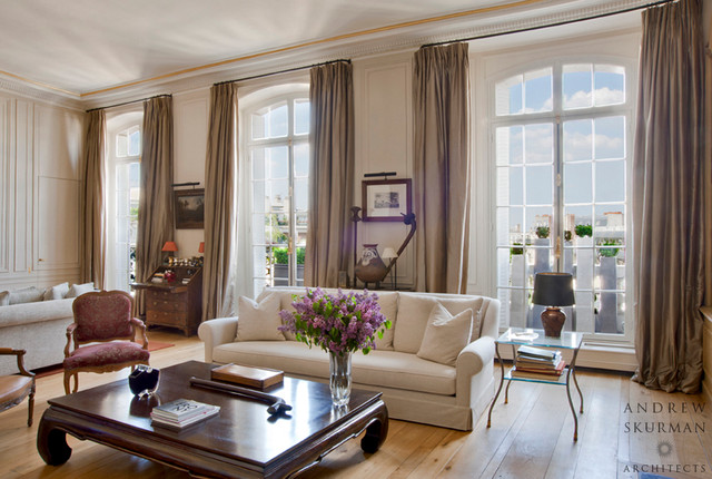 Apartment in Paris Designed in Conjunction with Olivier Thual contemporary-family-room