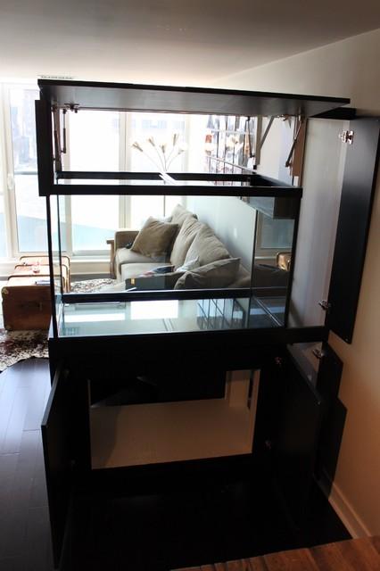 Aquarium Cabinet For 120 Gallon Tank Contemporary Family Room