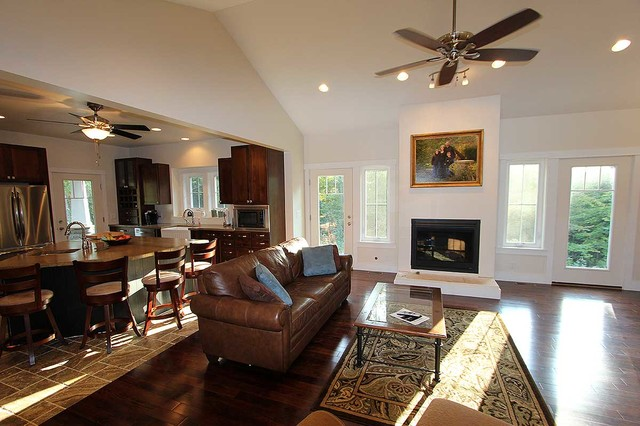 Exclusive Red Cottage - Plan 18260BE traditional-family-room
