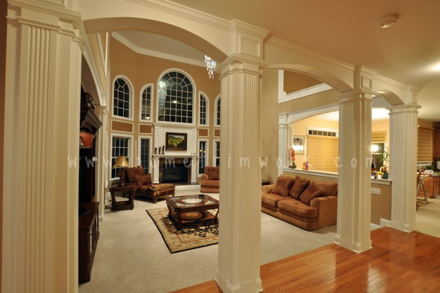 Archways And Trimwork Traditional Family Room New