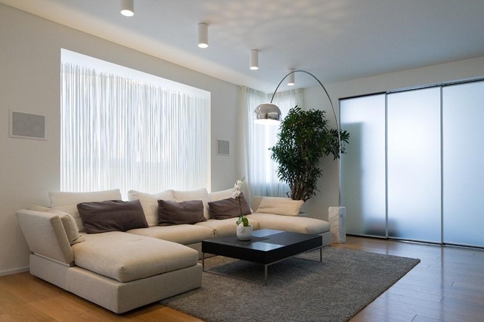 Arco Lamp By Manhattan Home Design Modern Family Room New York By Manhattan Home Design