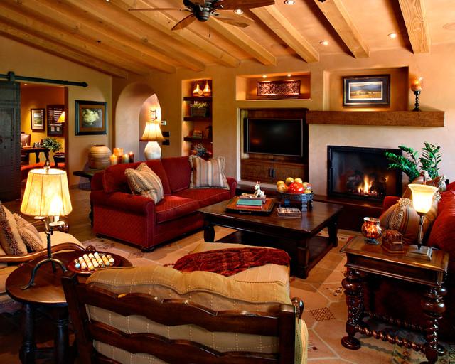 Arizona Country Club Phoenix Rustic Family Room Phoenix By Linda Seeger Interior Design