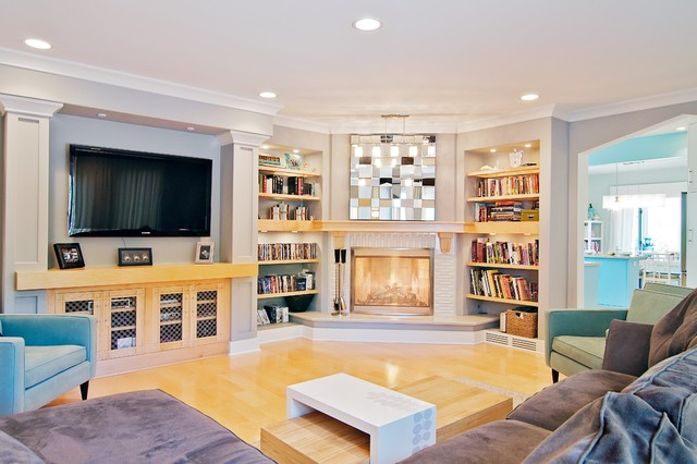 contemporary family room by Will Waibel