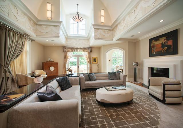 Art Deco Spectacular Contemporary Family Room