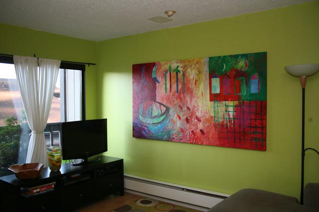 Art in the Family Room modern-family-room
