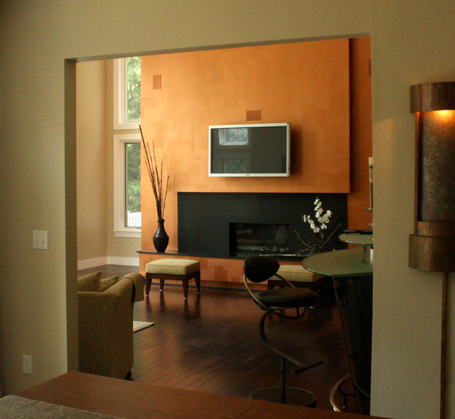 Burnt Orange Accent Wall: Arteriors Copper Accent Wall