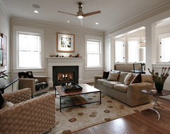 Arts and Crafts Family Room traditional-family-room