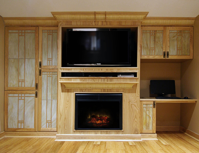 Arts Amp Crafts Style Custom Wall Unit Traditional