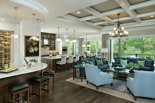 Asheville Transitional Family Room Cincinnati By