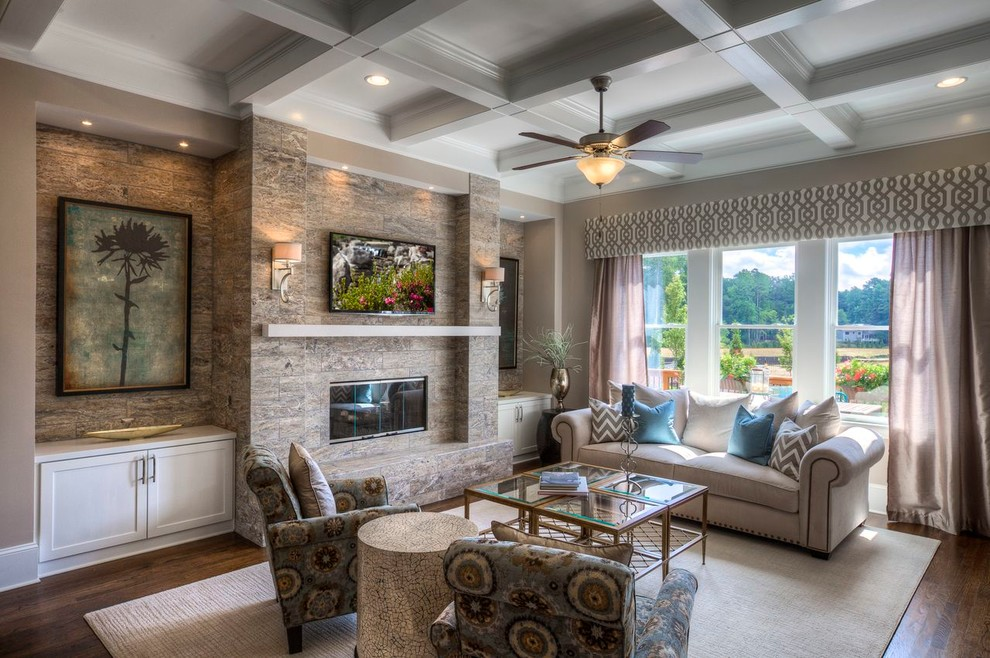 Example of a classic family room design in Atlanta
