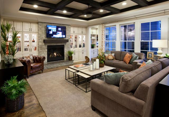 Ashton Woods Living Rooms Traditional Family Room