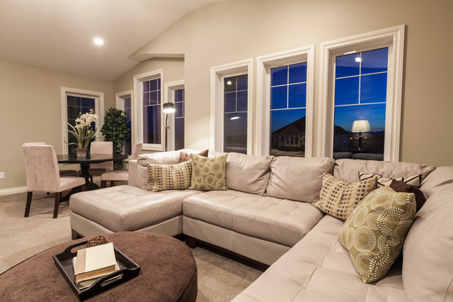 Aspen Woods Show Home transitional-family-room