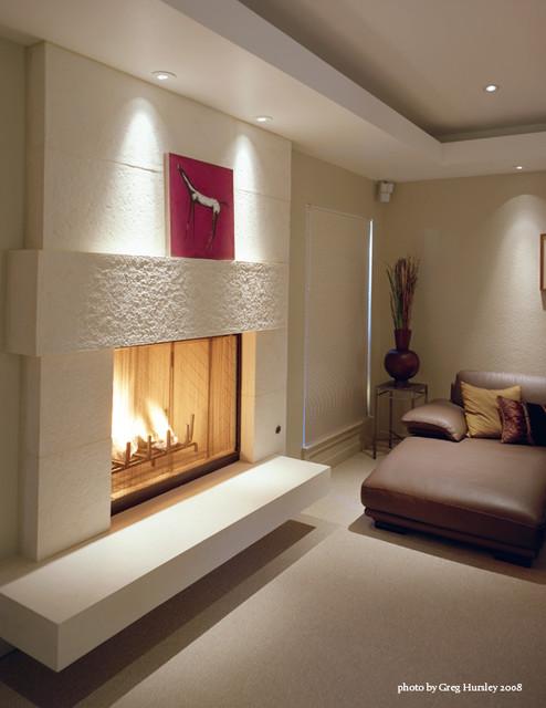 Asymmetrical Fireplace