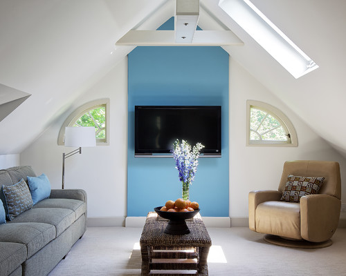 Eclectic Family Room by Scarsdale Interior Designers & Decorators B Fein Interiors LLC