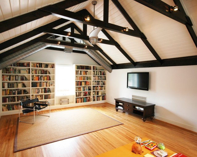 attic family room design ideas - Attic Escape Contemporary Family Room Birmingham
