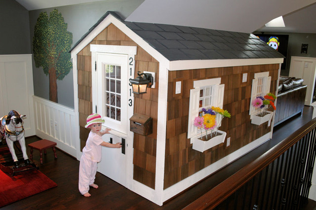 Kids Playroom Family Room Ideas attic playroom - traditional - family room - seattle -englund