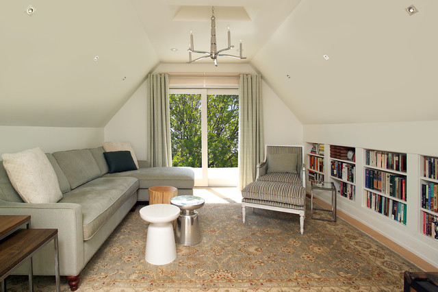 Attic Renovation Contemporary Family Room Toronto