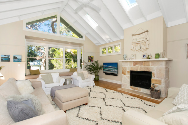 Avalon Hamptons Style Beach Family Room
