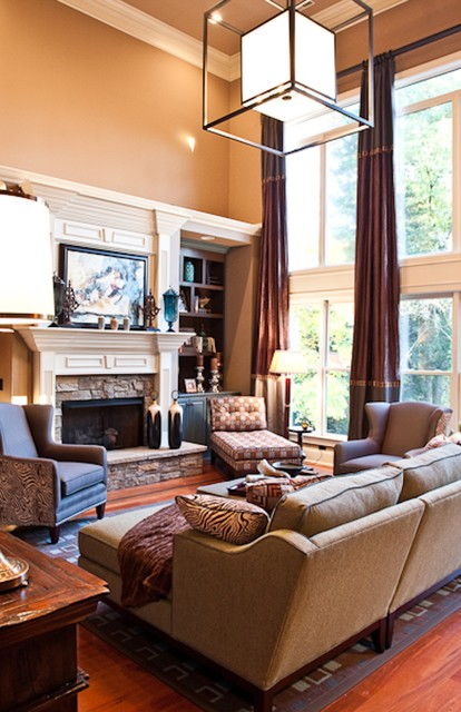 Ayershire Circle Great Room -Franklin eclectic-family-room