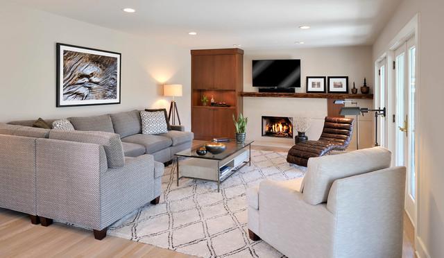 Elegant Bachelor Pad Family Room Contemporary Family Room