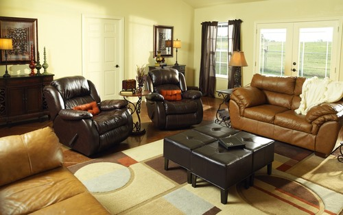 Beau Eclectic Family Room Design By Other Metros Interior Designer Cecilia  Staniec