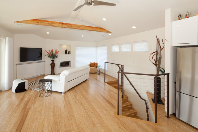 Bamboo Doors and Floors contemporary-family-and-games-room
