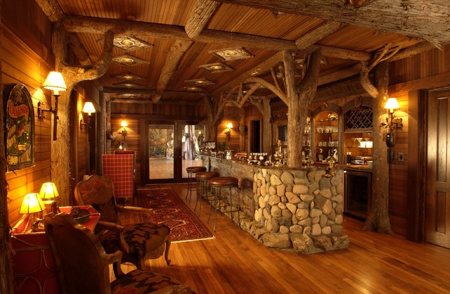 Bar Rustic Family Room Minneapolis By Gabberts