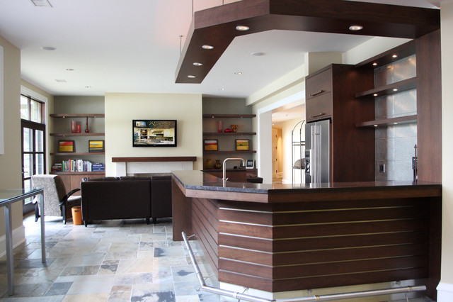 Bar contemporary-family-room
