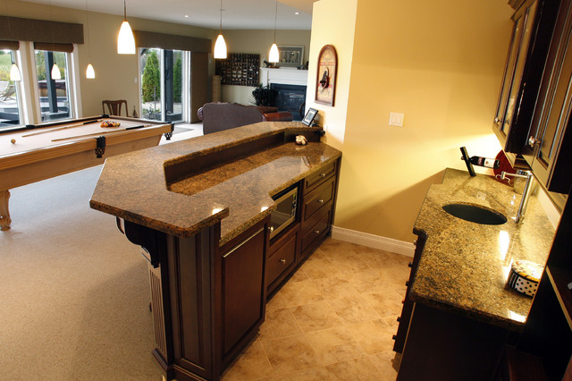 Bar Traditional Family Room Toronto By Schnarr