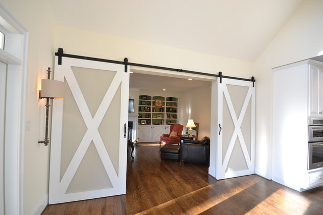 Barn Doors  family room
