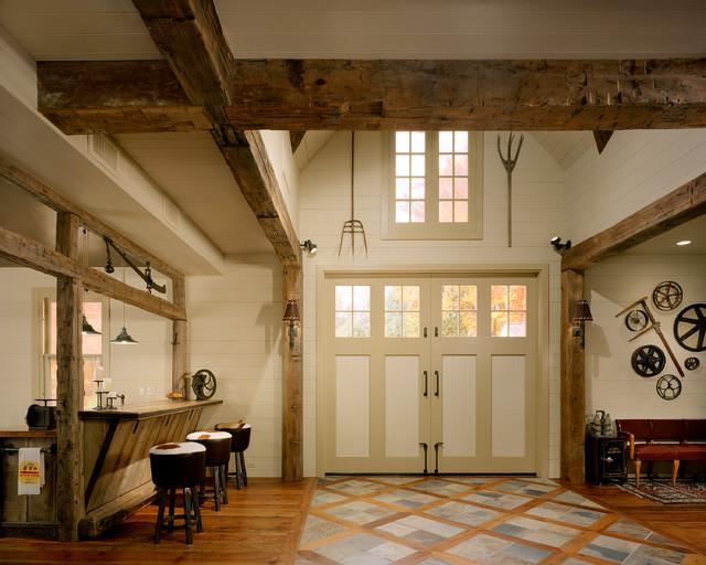 Barn Restoration Rustic Family Room Bridgeport By