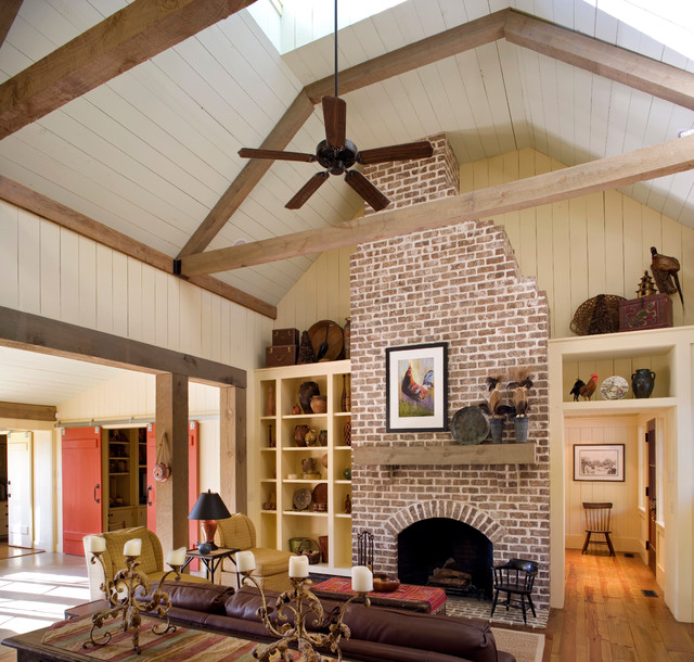 Barn Retreat Rustic Family Room By Historical Concepts