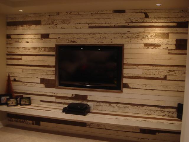 Barnboard Entertainment Wall Modern Family Room