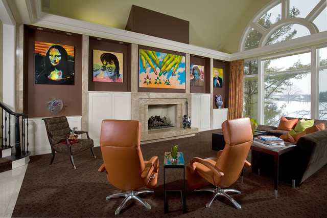 Barrington Home Eclectic Family Room Chicago By