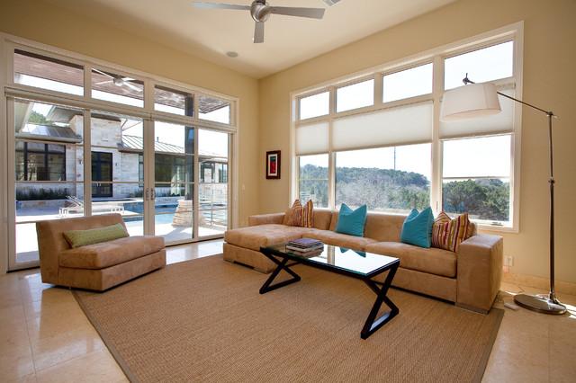 Barton Creek Residence Casita contemporary-family-room