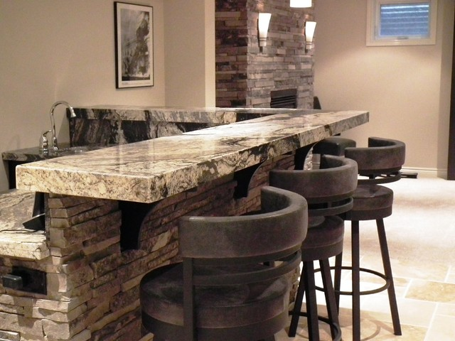 Basement bar design - Family room bar designs ...