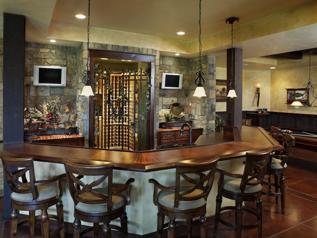 Basement bar - Family room bar designs ...
