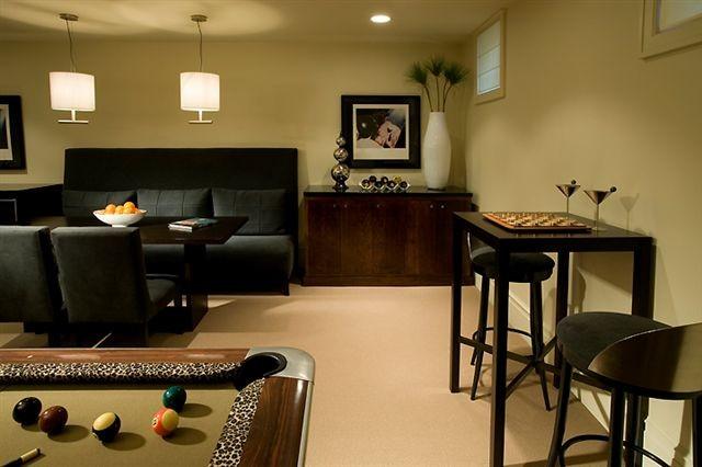 basement contemporary-family-room