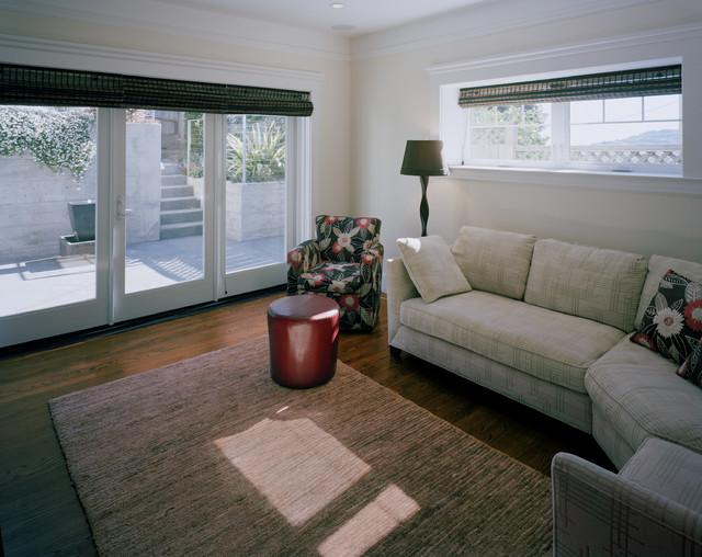 basement transitional family room - photo #31